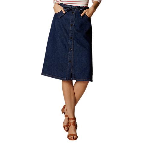 Buy Karen Millen Dark Denim Skirt, Dark Blue | John Lewis