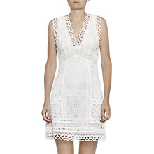 Buy French Connection Zhara Lace Dress, Summer White Online at johnlewis.com