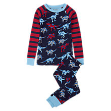 Buy Hatley Children's Dinosaur Ragalan Pyjamas, Blue/Red Online at johnlewis.com