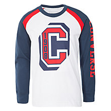 Buy Converse Boys' Long Sleeve Raglan Top, White Online at johnlewis.com
