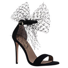 Buy Kurt Geiger Suzette Bow Stiletto Heeled Sandals, Black Online at johnlewis.com