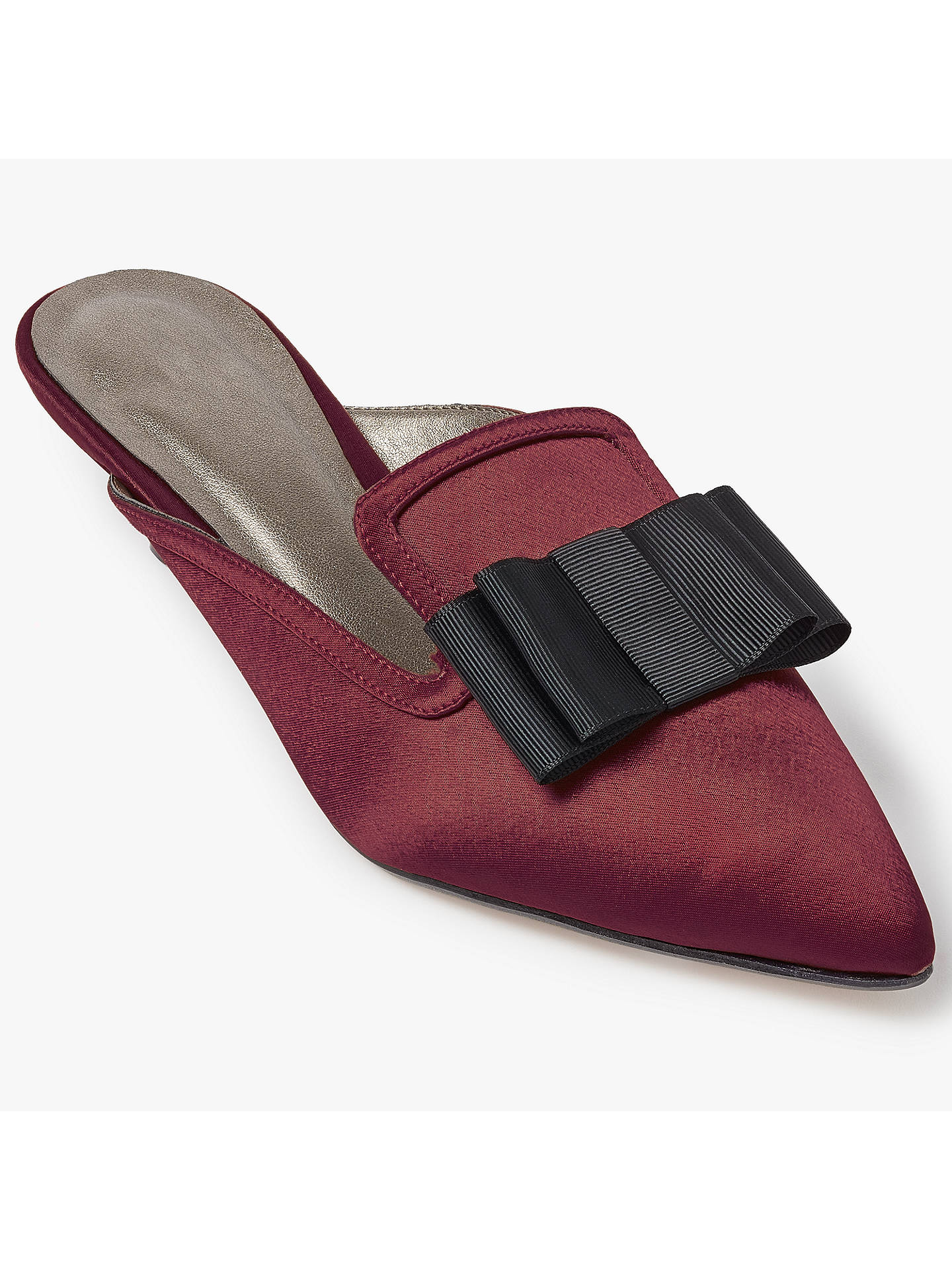 Buy John Lewis Darci Pointed Toe Mule Court Shoes, Red, 3 Online at johnlewis.com
