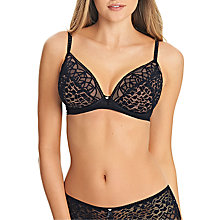Buy Freya Soiree Lace Padded Plunge Bra, Black Online at johnlewis.com
