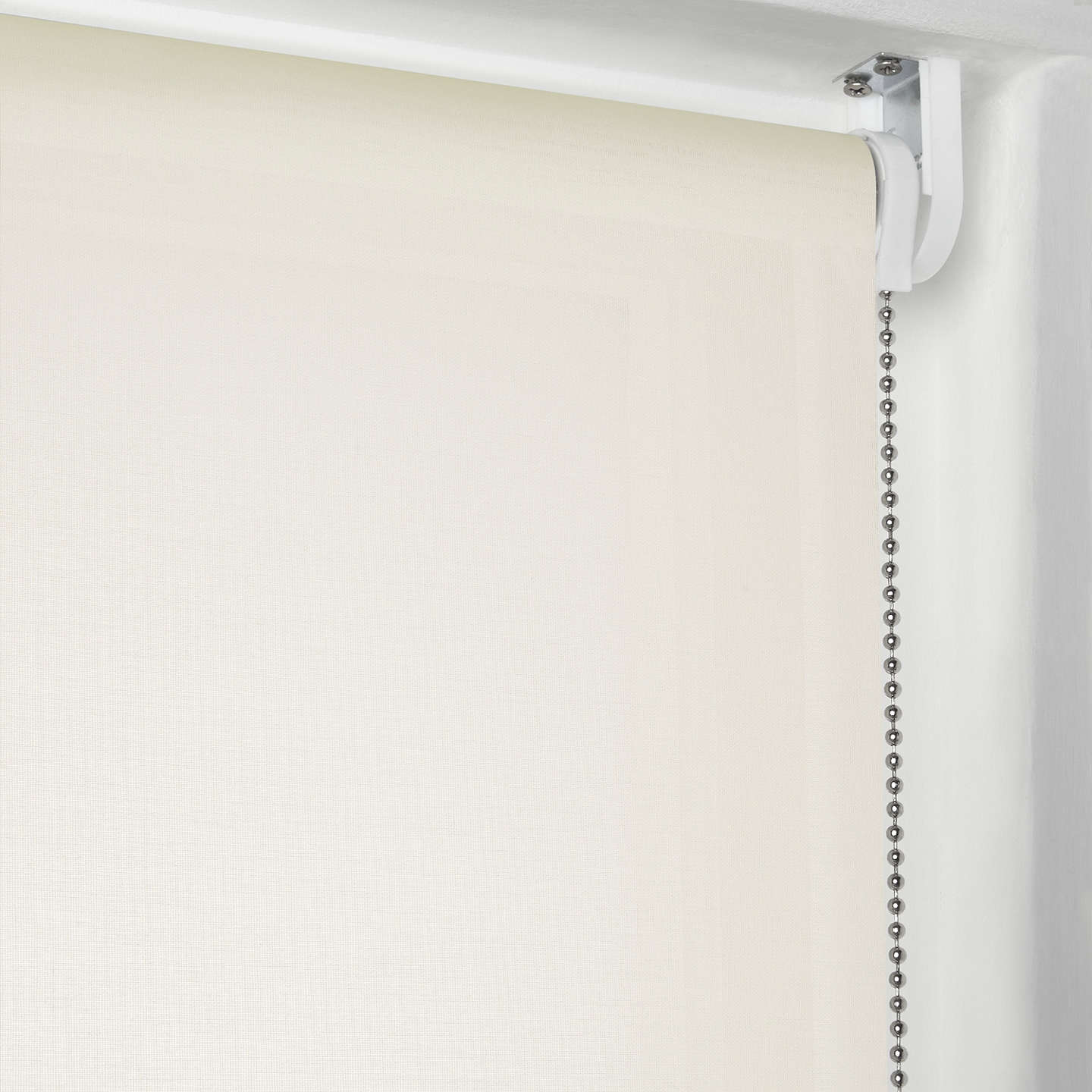 BuyJohn Lewis Sheer Roller Blind, Cream, W100cm Online at johnlewis.com