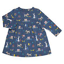 Buy John Lewis Baby Leckford All-Over Print Dress, Navy Online at johnlewis.com