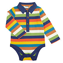 Buy John Lewis Baby Multi Stripe Bodysuit, Multi Online at johnlewis.com