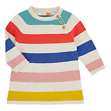 Buy John Lewis Baby Stripe Knit Dress, Multi Online at johnlewis.com