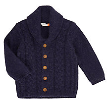 Buy John Lewis Baby Shawl Collar Cardigan, Blue Online at johnlewis.com