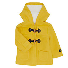 Buy John Lewis Baby Duffle Coat, Yellow Online at johnlewis.com