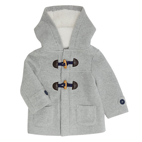 Buy John Lewis Baby Duffle Coat, Grey | John Lewis