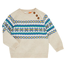 Buy John Lewis Baby Fair Isle Jumper, Cream Online at johnlewis.com