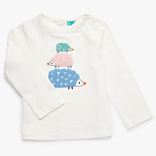 Buy John Lewis Baby Hedgehog Top, Cream Online at johnlewis.com