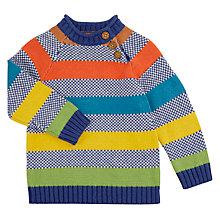 Buy John Lewis Baby Stripe Pie Crust Jumper, Multi Online at johnlewis.com