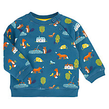 Buy John Lewis Baby Bala Print Jumper, Blue Online at johnlewis.com