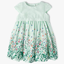 Buy John Lewis Baby Dobby Floral Print Dress, Mint Online at johnlewis.com