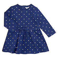 Buy John Lewis Baby Polka Dot Dress, Navy Online at johnlewis.com