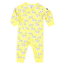 Buy Polarn O. Pyret Baby Leopard Playsuit, Yellow Online at johnlewis.com
