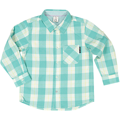 Polarn O. Pyret Boys' Checked Shirt, Green