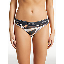 Buy Calvin Klein Underwear Modern Cotton Animal Print Briefs, Multi Online at johnlewis.com