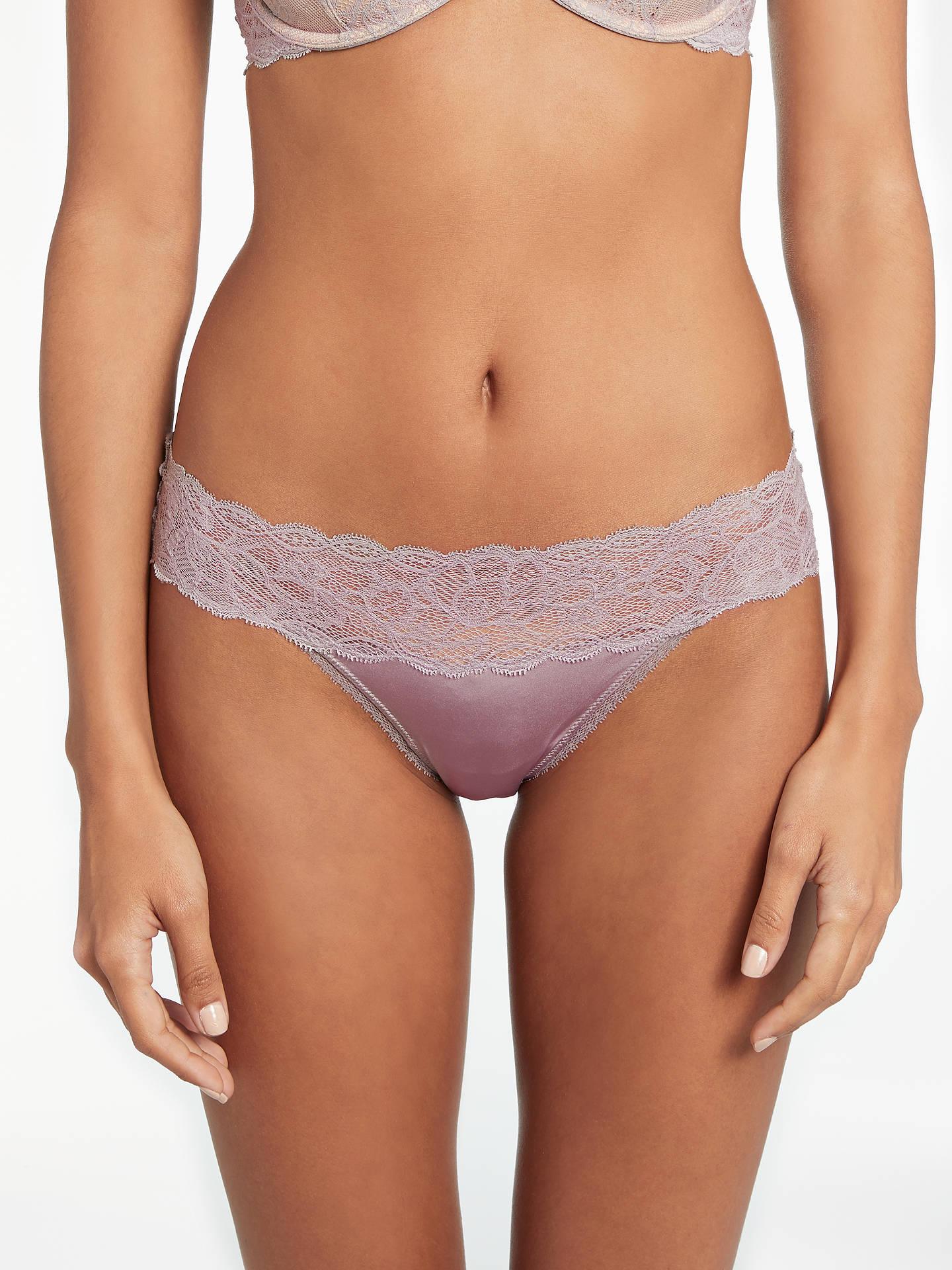 009e4034eb54 Buy Calvin Klein Underwear Seductive Comfort Lace Bikini Briefs, Violet  Dust, S Online at ...