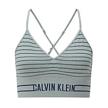 Buy Calvin Klein Underwear Seamless Bralette, Heather Grey/Stripe Online at johnlewis.com