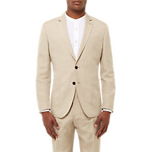 Buy Jaeger Silk Linen Regular Fit Suit Jacket, Straw Online at johnlewis.com