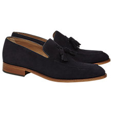 Buy Reiss Patrick Premium Suede Loafers, Navy Online at johnlewis.com