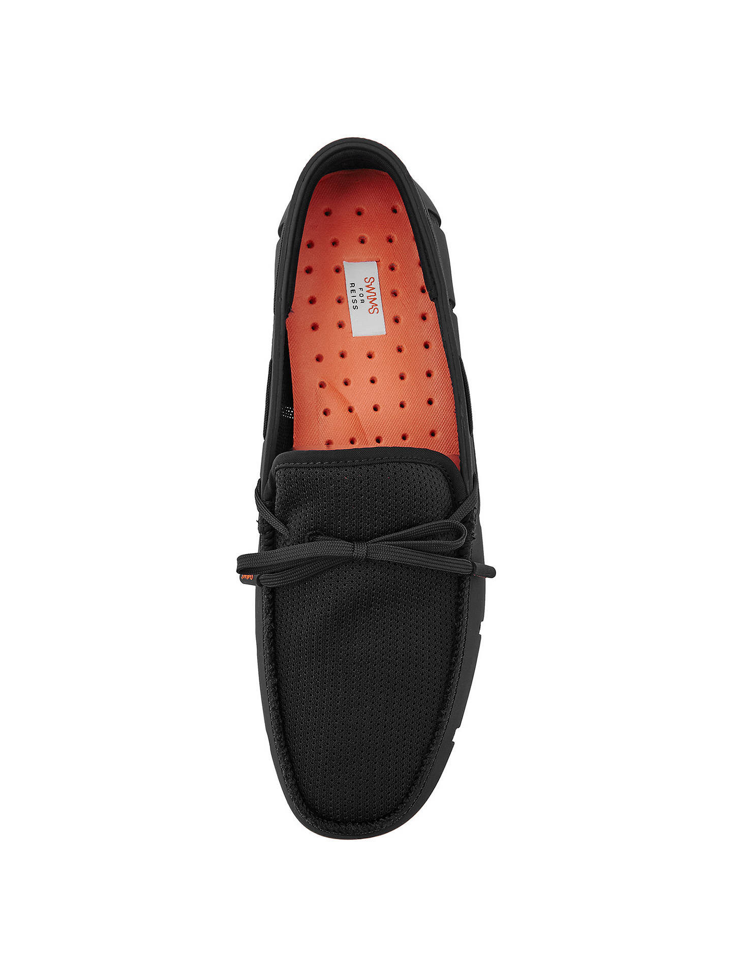 740d9e5a396ca ... Buy Reiss Swims Waterproof Lace Up Loafers, Black, 41 Online at  johnlewis.com