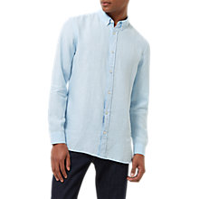 Buy Jaeger Linen Button Down Collar Shirt Online at johnlewis.com