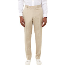 Buy Jaeger Silk Linen Regular Fit Trousers, Straw Online at johnlewis.com