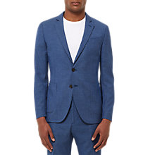 Buy Jaeger Fish Scale Weave Slim Fit Suit Jacket, Blue Online at johnlewis.com