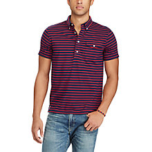 Buy Polo Ralph Lauren Slim Striped Cotton Popover, Newport Navy/Red Online at johnlewis.com