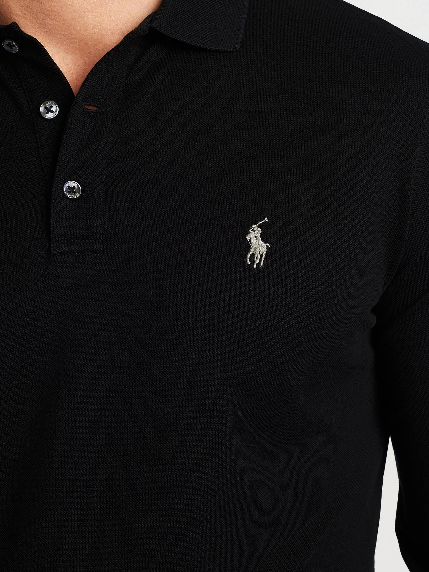 sedersi completo da uomo scintilla  Polo Ralph Lauren Long Sleeve Polo Top at John Lewis & Partners
