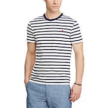 Buy Polo Ralph Lauren Short Sleeve Crew Neck T-Shirt, Nevis/Newport Navy Online at johnlewis.com