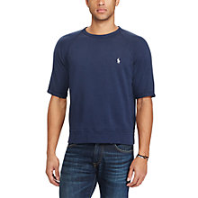 Buy Polo Ralph Lauren Short Sleeve Crew Neck Jumper, Cruise Navy Online at johnlewis.com
