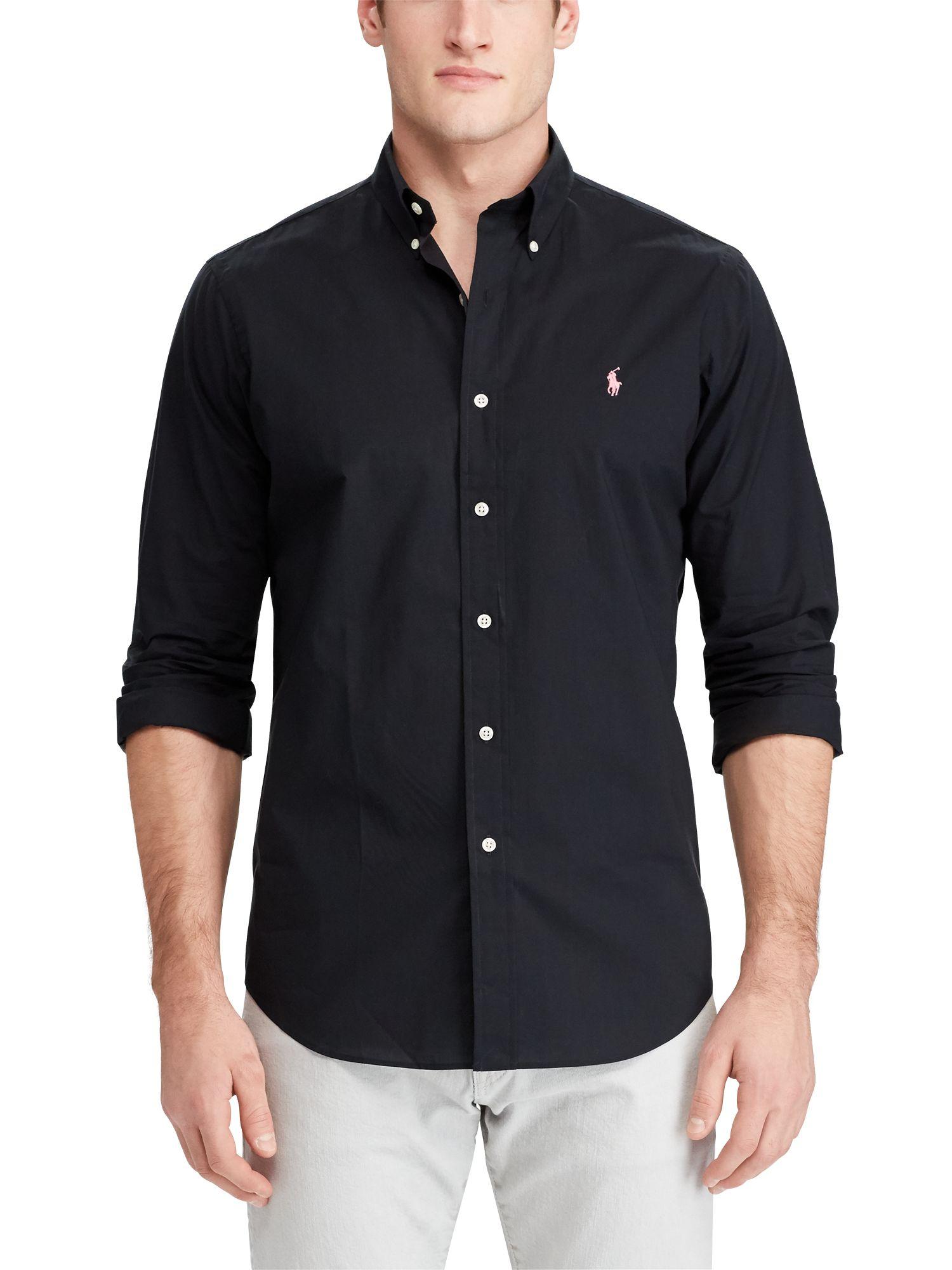 Polo Ralph Lauren Slim Fit Cotton Poplin Shirt at John Lewis ...