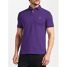 Buy Polo Ralph Lauren Short Sleeve Polo Top, Regal Purple Online at johnlewis.com