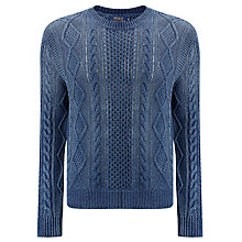 Buy Polo Ralph Lauren Cotton Guernsey Jumper, Denim Navy Online at johnlewis.com