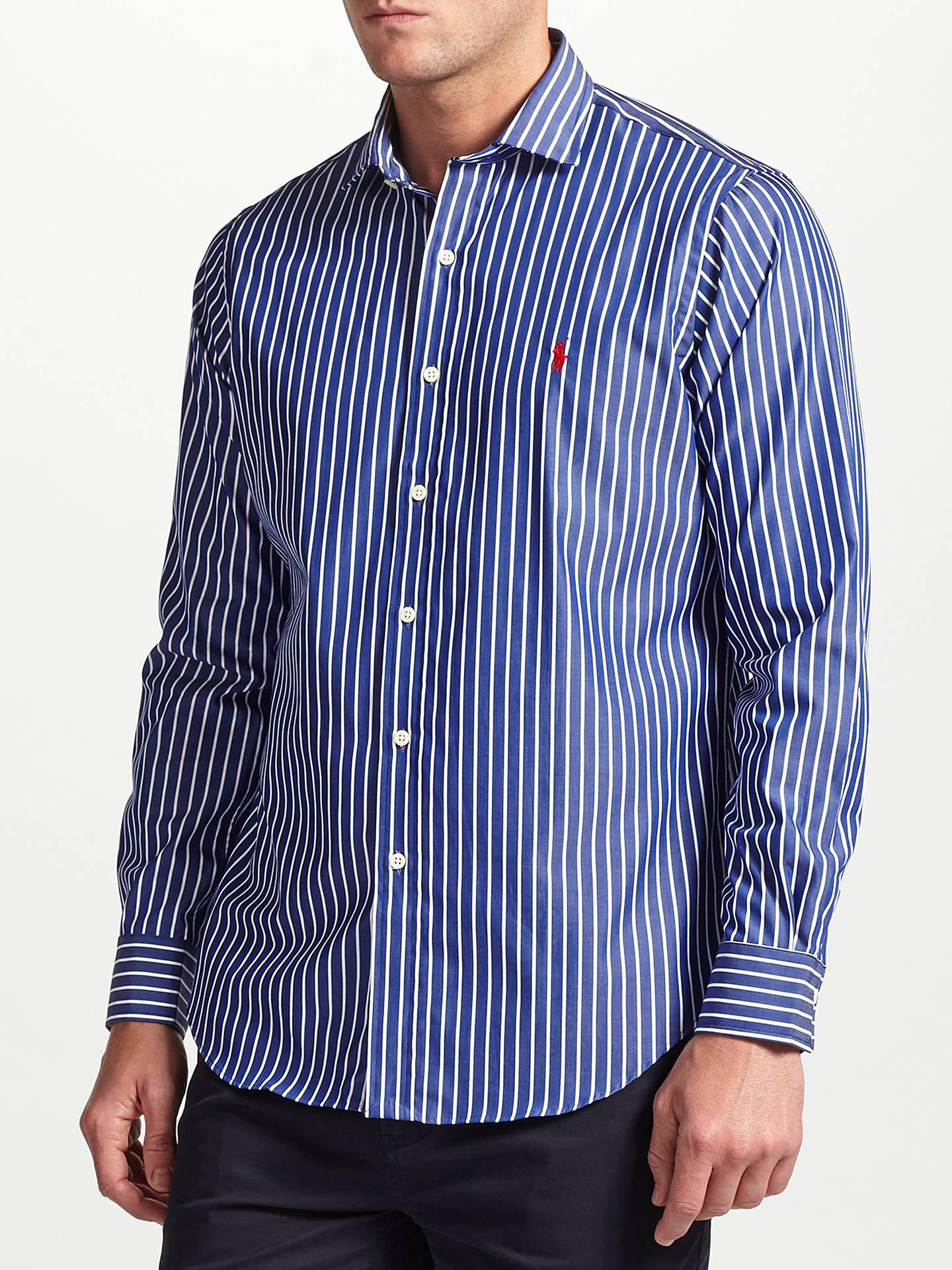 598e8fa0 Buy Polo Ralph Lauren Striped Shirt, Blue/White, S Online at johnlewis.