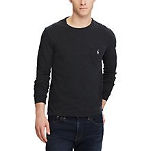 Buy Polo Ralph Lauren Long Sleeve T-Shirt, Polo Black Online at johnlewis.com