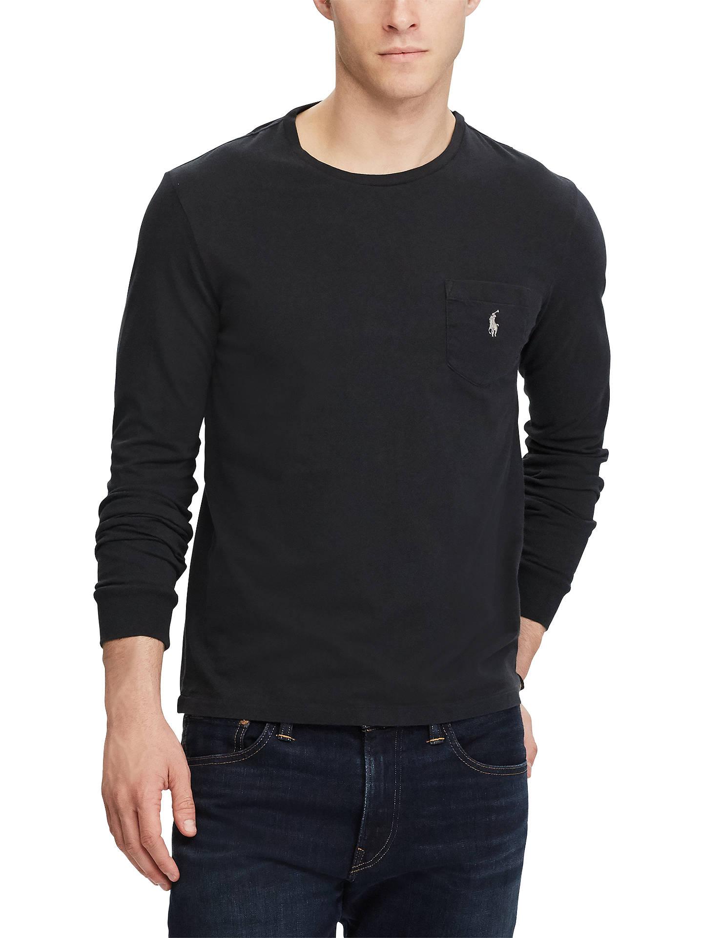 Long Lauren Lewis T ShirtBlack Polo Ralph John Sleeve At yvnOmN80w