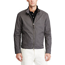 Buy Polo Ralph Lauren Barracuda Cotton Twill Jacket, Charcoal Grey Online at johnlewis.com