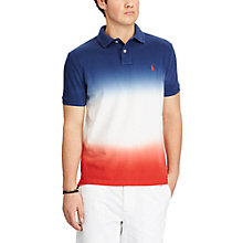 Buy Polo Ralph Lauren Custom Slim Fit Cotton Polo Shirt, Dark Cobalt/White/Red Beret Online at johnlewis.com