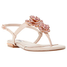 Buy Dune Mulligan Floral Jewel Toe Post Sandals, Blush Online at johnlewis.com