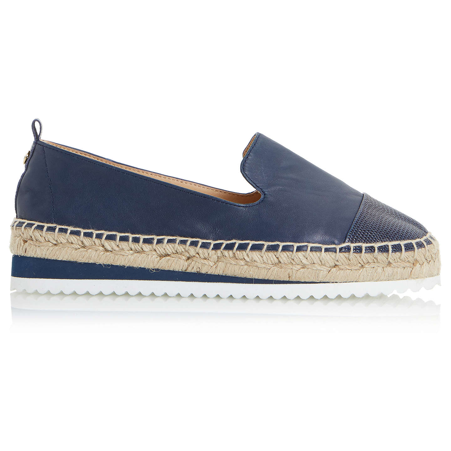 BuyDune Guest Espadrille Loafers, Navy, 3 Online at johnlewis.com