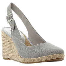 Buy Dune Kanvas Slingback Wedge Heel Court Shoes Online at johnlewis.com