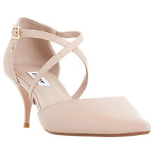 Buy Dune Courtnee Cross Strap Court Shoes, Blush Online at johnlewis.com