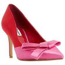 Buy Dune Bowiee Pointed Toe Court Shoes, Red Online at johnlewis.com