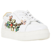 Buy Dune Emerelda Embellished Lace Up Trainers Online at johnlewis.com