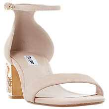 Buy Dune Maygo Block Heeled Sandals, Blush Online at johnlewis.com